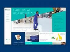 hca healthstream login from home hca careers website homepage by sab jhitta on dribbble