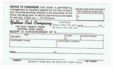 yellow cab taxi receipt free download aashe