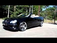 matte black mercedes w209 clk 500 with mec wheels lowered