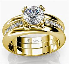trio wedding rings sets yellow gold with luxury diamond