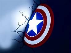 marvel s captain america shield 3d led wall l best of captain america shield 3d led light buy it now