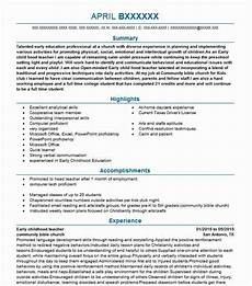 early childhood teacher objectives resume objective
