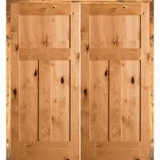 home depot solid interior door krosswood doors 60 in x 80 in rustic knotty alder 3 panel right handed solid wood