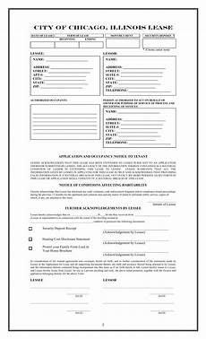 free illinois chicago only residential lease agreement template word pdf eforms free