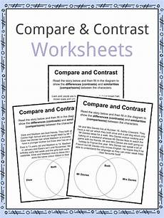 compare and contrast worksheets lesson plan pdf s