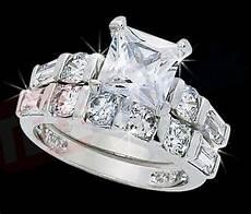 diamond z4 ring princess cut engagement and wedding band