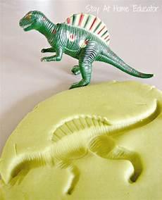 dinosaur fossils in play dough dinosaur theme preschool