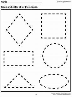 math worksheet 1000 images about preschool shapes on shape shape pre k tracing