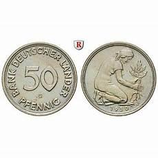 Malvorlagen Dm Deutschland Bundesrepublik Deutschland 50 Pfennig 1950 G F St J