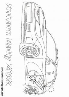 subaru rally coloring page