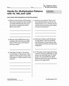 4th grade multiplication patterns worksheets 475 on multiplication patterns with 10 100 and 1 000 worksheet for 4th 5th grade lesson