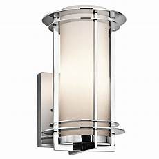 shop kichler lighting pacific edge collection 1 light polished stainless steel outdoor wall