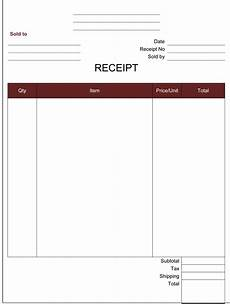 free receipt template word 21 free receipt templates for word excel and pdf