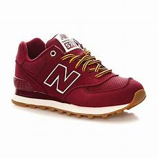 New Balance Ml574 D Sneakers Bordeaux Pas Cher Baskets