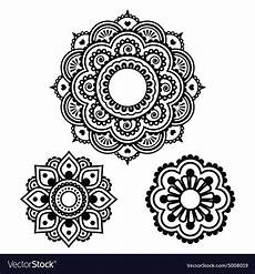 henna tattoo design mehndi pattern vector image