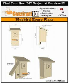 plans for bluebird houses bluebird house plans pdf download construct101 in 2020