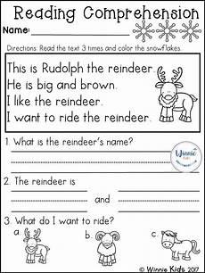 winter reading worksheets 20078 kindergarten reading comprehension passages winter reading comprehension passages reading