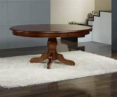 Table Ovale Pieds Central En Merisier Massif 160x120 5