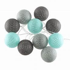 guirlande lumineuse boule guirlande lumineuse 10 boules led coloris bleu gris