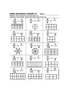 fraction shaded in worksheets 3980 fractions enchantedlearning