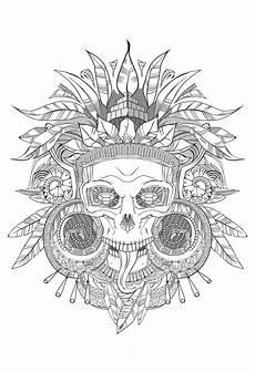 Ausmalbilder Erwachsene Totenkopf Skull Coloring Pages For Adults