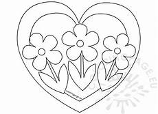 with three flowers coloring page coloring page