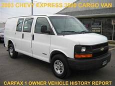 auto repair manual online 2003 chevrolet express 3500 electronic valve timing buy used 2003 chevy express 3500 cargo van ls lt 3 4 dr service newertires history report in