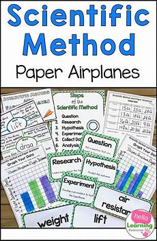 paper airplane science worksheets 15715 scientific method and paper airplanes an investigation in flight scientific method