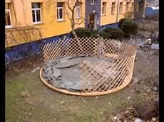 highspeed aufbau einer jurte in freiburg