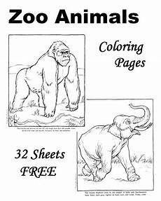 zoo animals coloring pages free 16980 zoo animal coloring pages 32 sheets free inspiration colouring tegninger