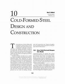 cold formed steel design and construction steel structure