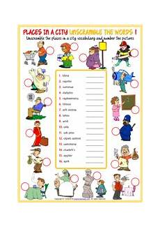 places in my city worksheets 15968 places in a city esl vocabulary worksheets