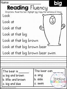 reading worksheets for kindergarten 18445 free reading fluency and comprehension set 1 with images reading fluency free