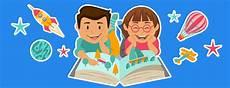 64 Gambar Kartun Anak Sedang Belajar Di Kelas Cikimm