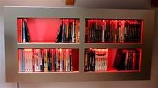 Dvd Bluray Regal Selbstgebaut Mit Led Beleuchtung