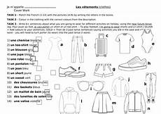 worksheets les vetements 18940 les vetements worksheet cover lesson clothing clothes teaching resources