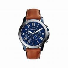 montre fossil homme chronographe bracelet cuir homme