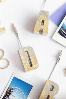 Buchstaben Aus Beton Selber Machen - diy beton fotohalter mit blattgold ard buffet craft