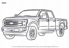 Learn How To Draw Ford F350 Trucks Step By