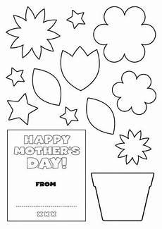 mothers day card printable template 20614 oulike kinder idees vir moedersdag mothers day card template mothers day cards mothers day