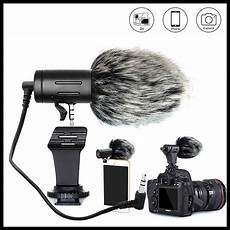 phone interview shopee phone microphone mini portable 3 5mm condenser phone video camera interview microphone with muff