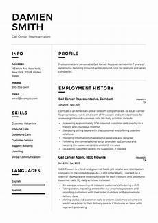 call center representative resume sle template