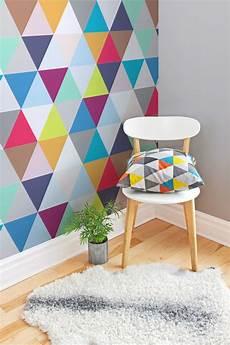 Colorful Wallpaper Room Designs Wall Arts multicoloured triangles geometric wallpaper in 2019