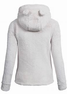hailys damen teddy fleece jacke kapuze mit ohren am