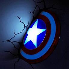 captain america shield 3d deco light energy efficient wall light menkind