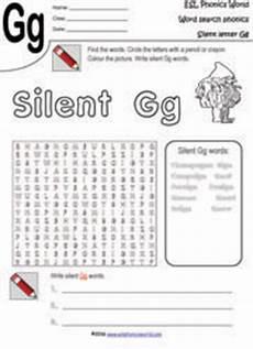 silent letter g worksheets 24641 esl phonics world silent letter worksheets