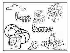 happy summer holidays coloring pages printable 17614 summer drawing for at getdrawings free