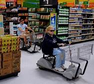 Too Cool In Scooters And Sunglasses At Walmart