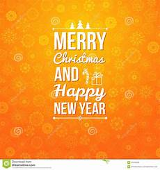 merry and happy new year card stock vector