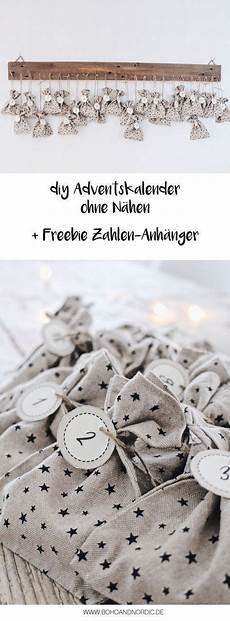 diy adventskalender basteln freebie zahlen zum